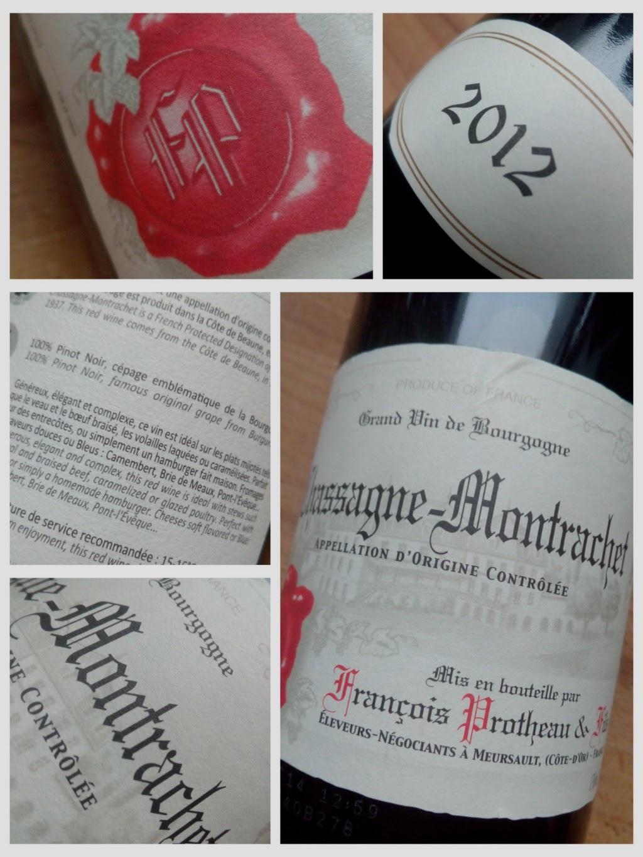 Francois Protheau & Fils 2012, Chassagne-Montracet, Bourgogne