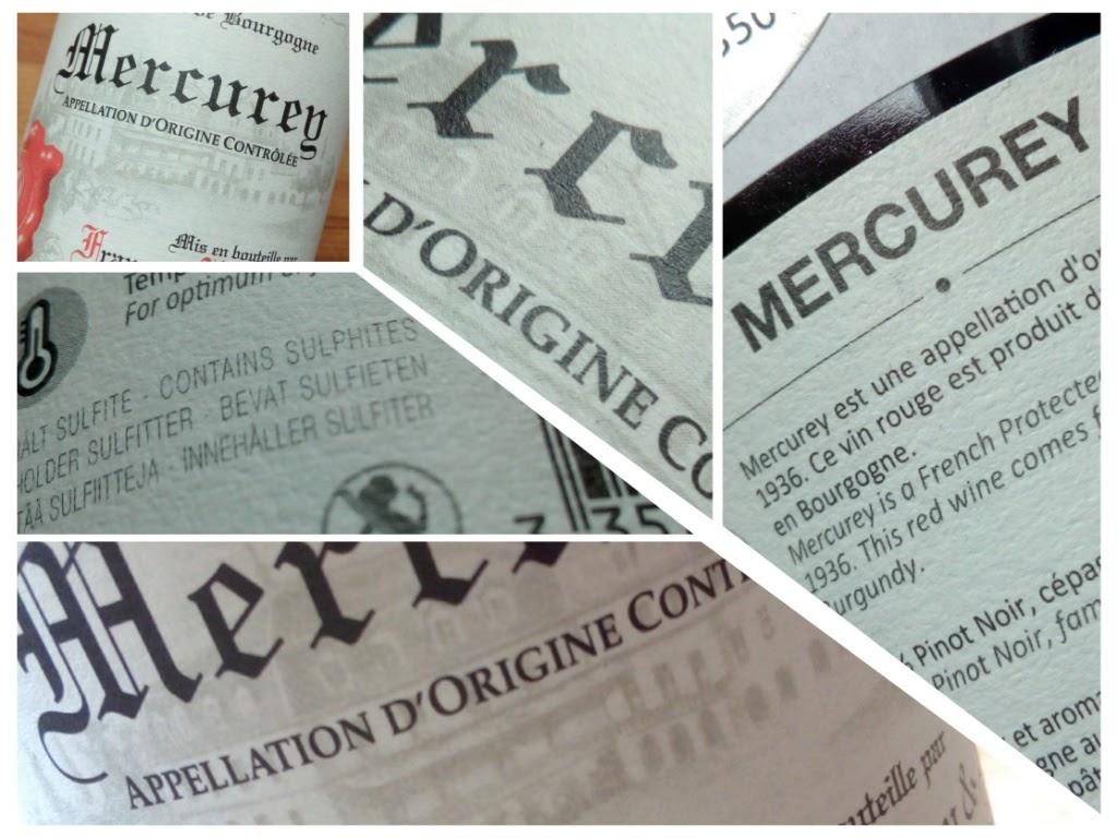 Francois Protheau & Fils 2014, Mercury, Bourgogne, Frankrijk detail