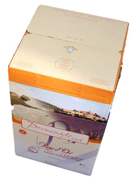 Promenade dans le Sud, Syrah Rosé, bag in box, Frankrijk