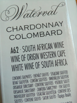 Waterval, Chardonnay - Colombard, Zuid Afrika detail