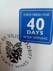 bag in box test 2016, 40 dagen blijft de wijn zeker goed