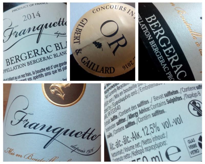 Franquette 2014, Bergerac Blanc, Frankrijk detail