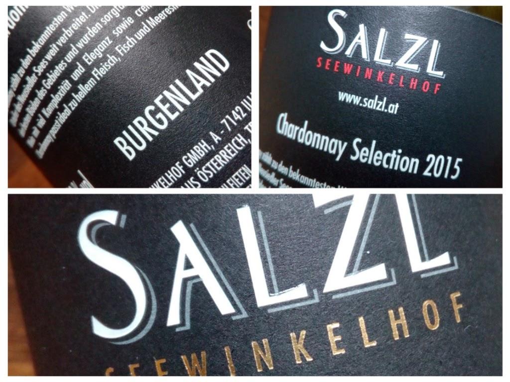 Salzl Seewinkelhof 2015, Chardonnay, Burgenland, Oostenrijk detail