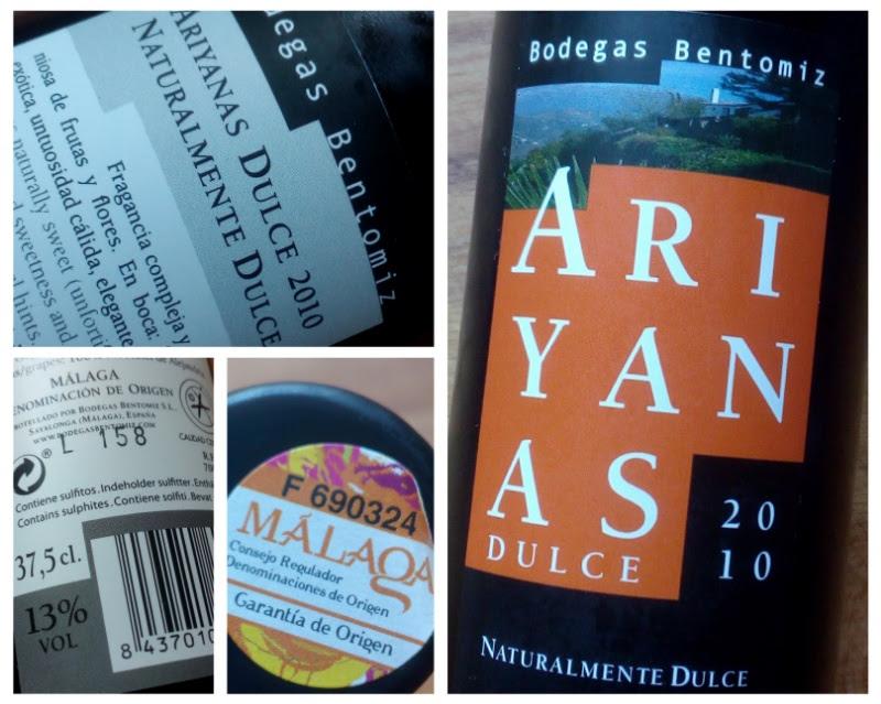 Ariyanas Dulce 2014, Moscatel de Alejandria, Malaga, Spanje detail