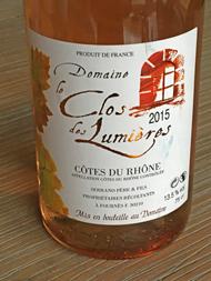 Domaine Le Clos des Lumières Rosé 2015