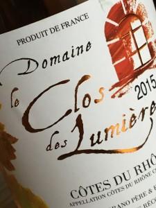 Domaine le Clos des Lumieres Rose 2015 b