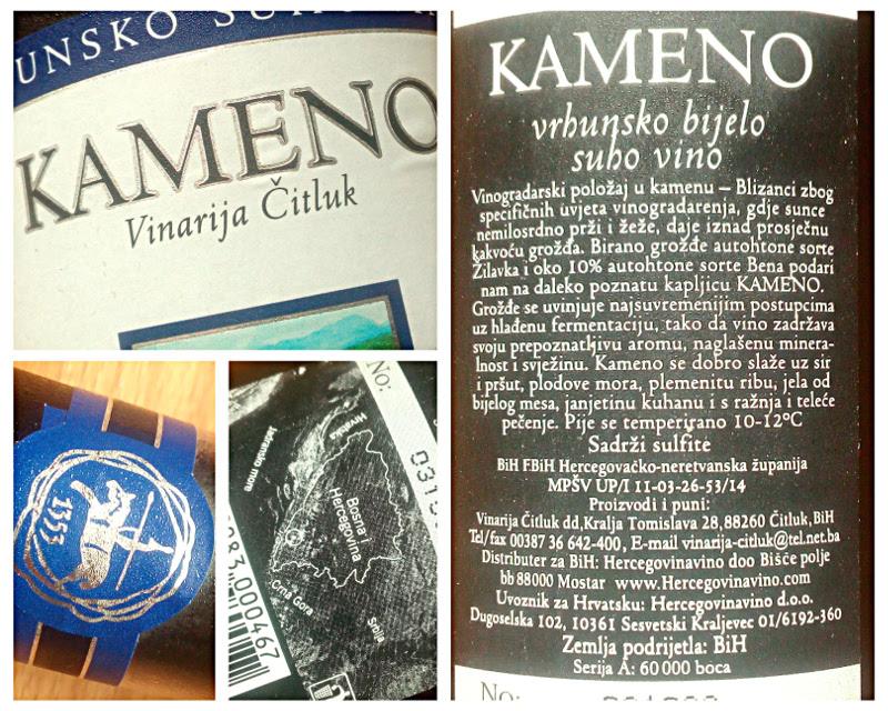 Kameno, Vinarija Citluk, Bosnië Herzegovina detail