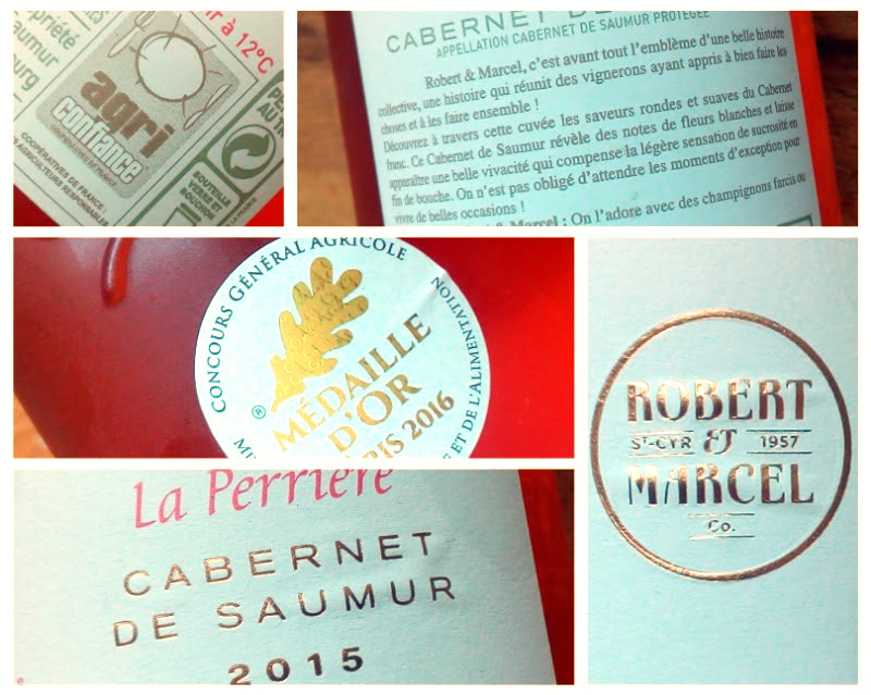 La Perrière 2015, Cabernet de Saumur, Robert & Marcel, Frankrijk detail