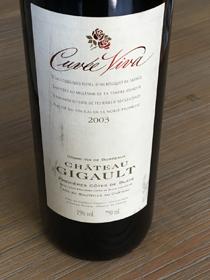 Chateau Gigault Cuvée Viva 2003
