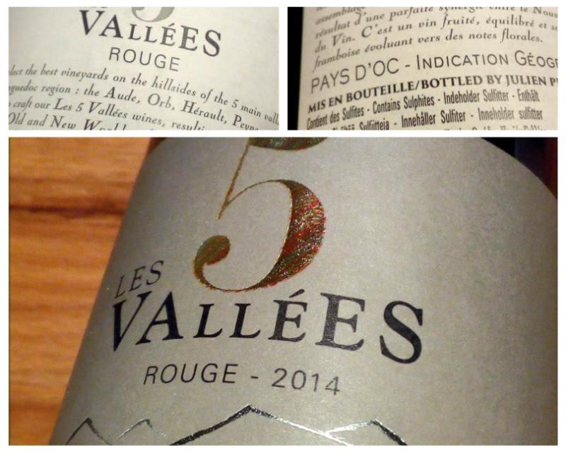 Les 5 Vallees, Vin Rouge, 2014, Pays d'Oc, Frankrijk