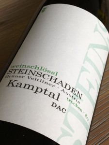 Weinschlössl Steinschaden Grüner Veltliner 2015, DAC Kamptal, Oostenrijk