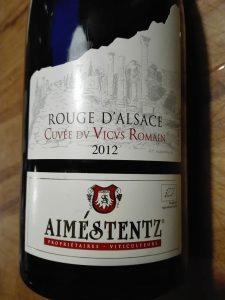 Aime Stenz 2012, Elzas Pinot Noir, Cuvee du Vicus Romain, Bio
