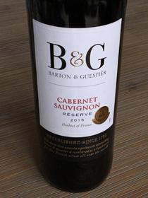 B & G Cabernet Sauvignon 2015, IGP Pays d'Oc, Frankrijk