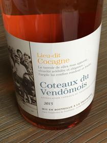Coteaux Vendômois Lieu-dit Cocagne 2015, AC Coteaux du Vendõmois, Loire, Frankrijk