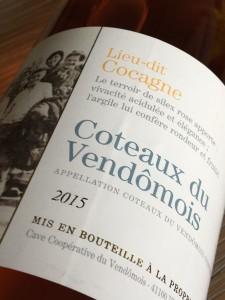 Coteaux Vendômois Lieu-dit Cocagne 2015