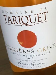 Domaine Tariquet Derniéres Grives 2012