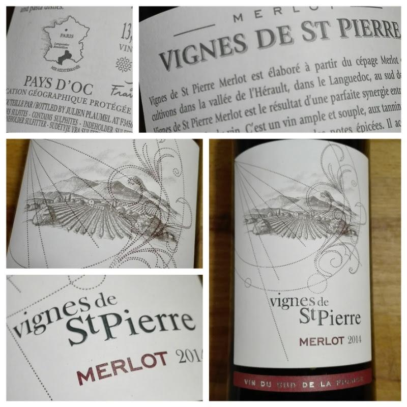 Vignes de St. Pierre 2014, Merlot, IGP, Pays d'Oc, Frankrijk