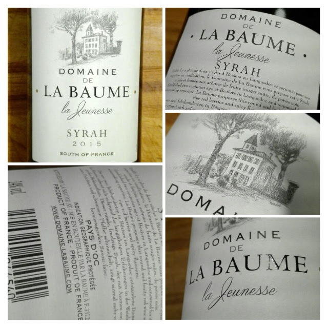 Domaine de La Baume 2015, Syrah, Pays d'Oc, Frankrijk