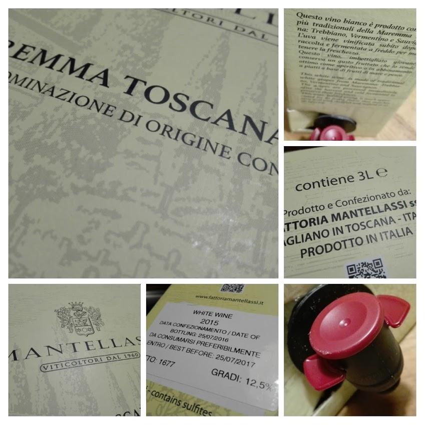 Mantellassi 2015, Maremma Toscana Bianco DOC, BIB 3 liter