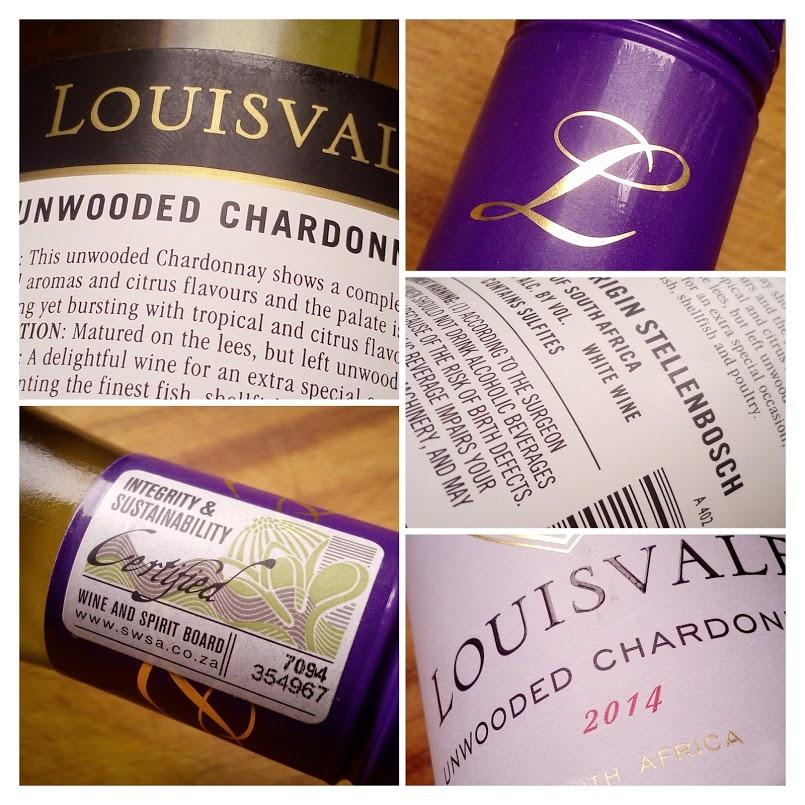 Louisvale 2014, Unwooded Chardonnay, Zuid Afrika