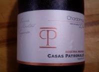 Casas Patronales 2014, Chardonnay, Chili