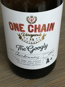 The Googly Chardonnay 2015, Zuid-Oost Australië