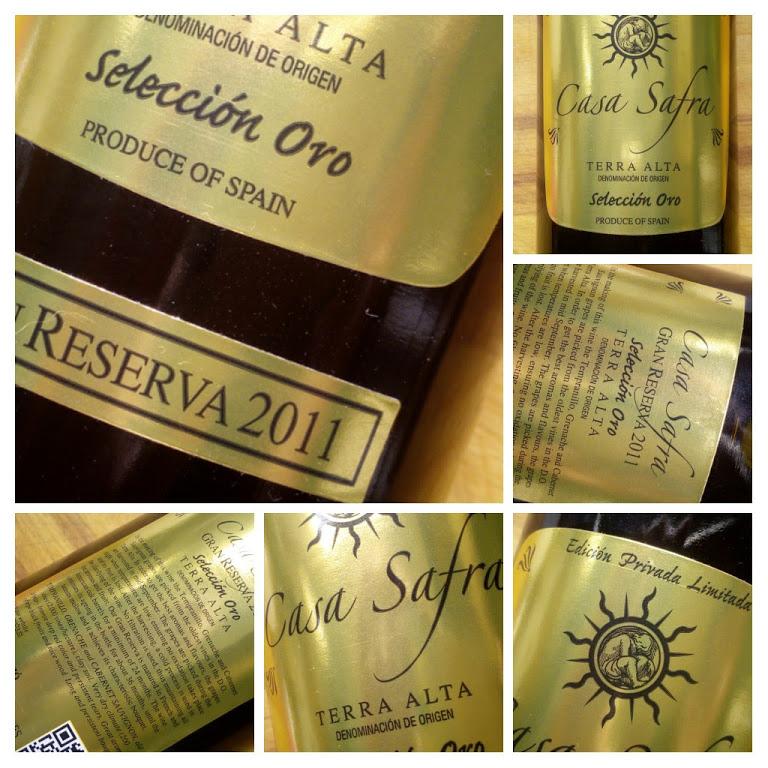 Casa Safra 2011, Terra Alta, Gran Reserva, Spanje