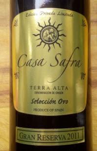Casa Safra Gran Reserva 2011, Terra Alta, Spanje