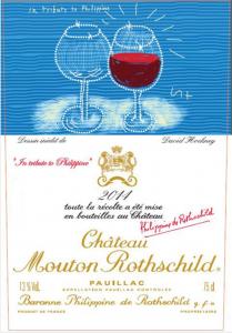 Chateau Mouton Rothschild 2014 de etiketten