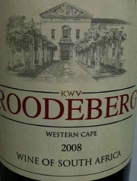 De wijnen van KWV in Zuid-Afrika, roodenberg