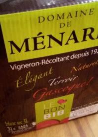 Domaine de Menard, Bag in Box, Côtes de Gascogne