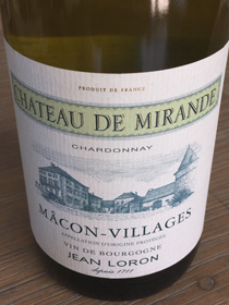 Chateau de Mirande 2015, AOP Mâcon-Villages, Frankrijk