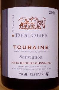 Domaine Desloges 2016, Sauvignon Blanc, Touraine, Loire