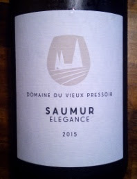 Domaine du Vieux Pressoir, Saumur, 2015, Frankrijk