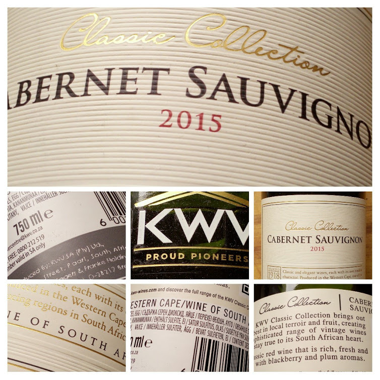 KWV Classic Collection Cabernet Sauvignon, Zuid Afrika