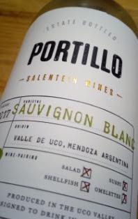 Portillo Sauvignon blanc 2017, Salentein, Valle de Uco, Argentinië