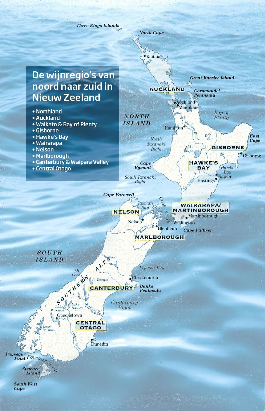 Alles over de wijnen van Nieuw Zeeland