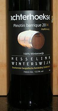 Wijngaard Hesselink Pinotin Barrique