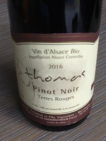 Pinot Noir Terres Rouge, AC Elzas, jaar 2016, Frankrijk