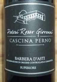 Cascina Perno Barbera d'Asti, 2015, Poderi Rosso Giovanni