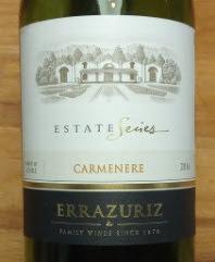 Errazuriz Carmenere 2016, Estate Series, Chili