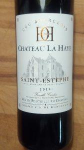 Chateau La Haye Uit Saint Estephe 2014 Cru Bourgeois Bordeaux