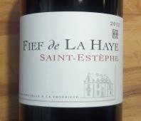 Fief de la Haye, Saint-Estèphe, 2012, rode Bordeaux