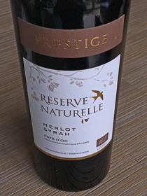 Reserve Naturelle Prestige Merlot/Syrah 2016, IGP Pays d'Oc, Frankrijk