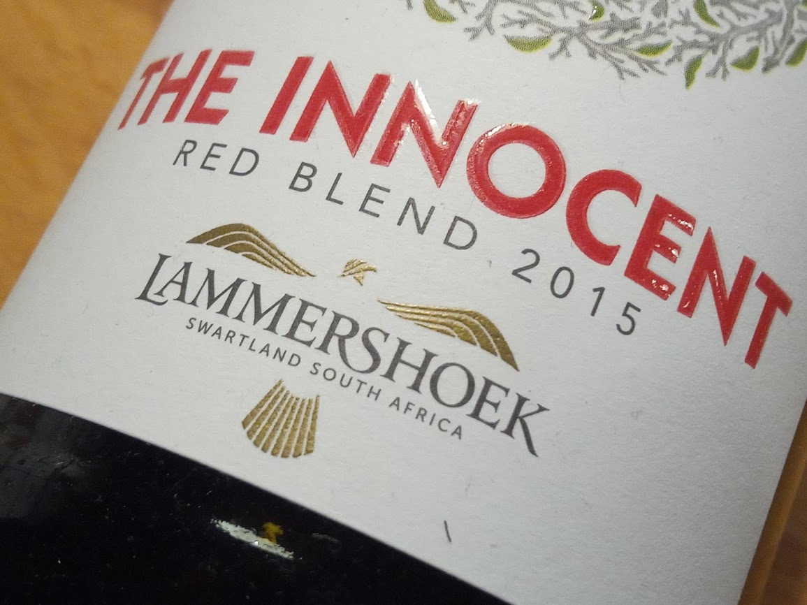 The Innocent Red Blend, Lammershoek, Zwartland, Zuid Afrika