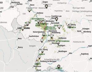 Duitse wijngaarden staan online, een interactieve kaart