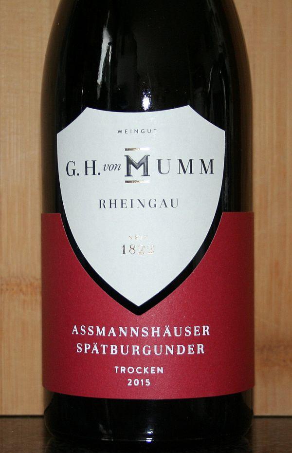 GH von Mumm Spatburgunder