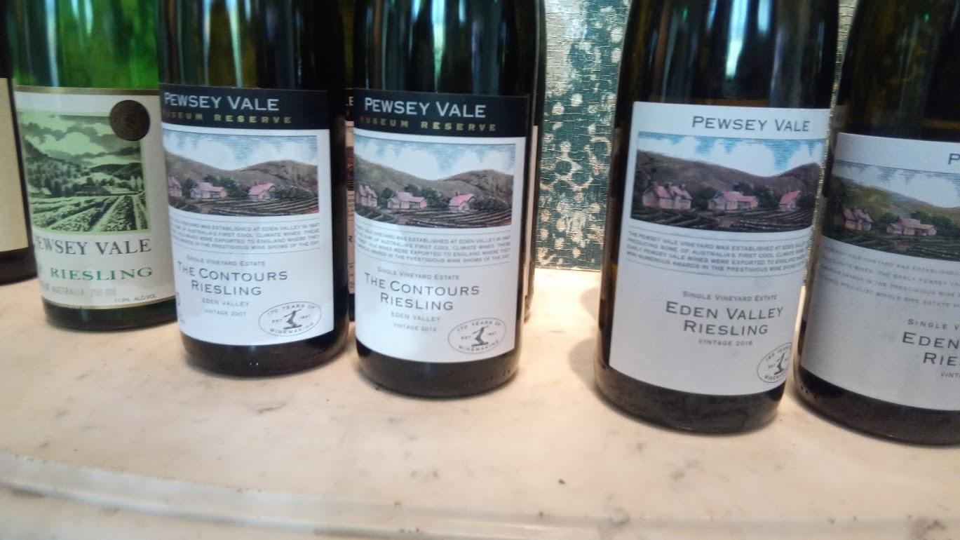 Pewsey Vale Vineyard flessen Riesling met etiket