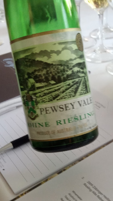 Pewsey Vale Vineyard, oude Riesling is ook heel mooi