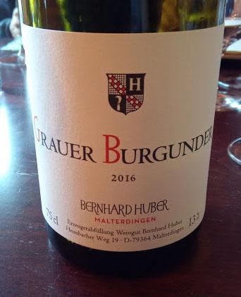 Weingut Bernhard Huber in Baden Grauer Burgunder